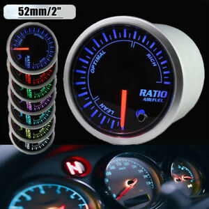 2 52mm Auto Car Air To Fuel Ratio Meter Gauge Turbo 7 Colors Led Universal 1x