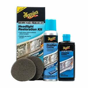 Meguiar S G2970 Two Step Headlight Coating Restoration Kit Car Auto Cleaning New