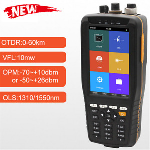 Tm290 Optical Time Domain Reflectometer Otdr Vfl Opm Ols 4 Non touch Screen Tzt