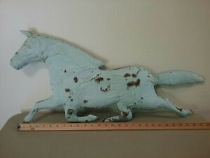 Old Antique Tin Horse Weathervane Ornament Full Body