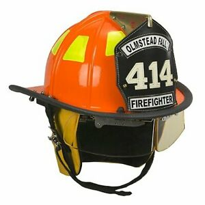Cairns Orange 1010 Traditional Fiberglass Helmet Nfpa Osha With Defender