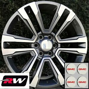 20 X9 Gmc Sierra 1500 Oem Specs Denali Wheels 2017 2018 Gunmetal Machined Rims