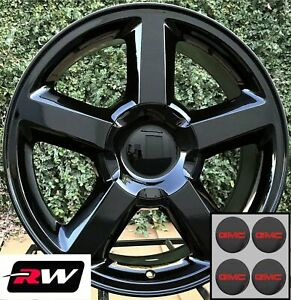 20 X8 5 Inch Chevy Truck Ltz Oem Specs Wheels Gloss Black Rims Fit Gmc Sierra