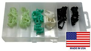 32 Piece Fuel Line Retainer Clip Assortment Kit Fits Ford Chrysler Gm Usa