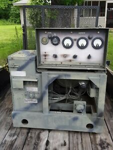 Army Surplus Diesel Generator W trailer