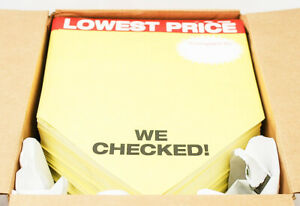 1000pk Non adhesive 12 x18 Retail Store Sale compared Price Pricing Tag Signs