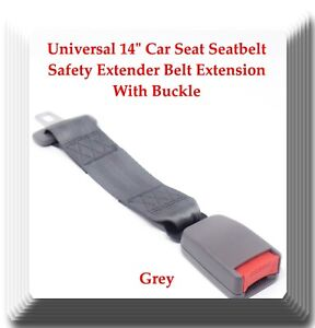 Grey Universal 14 Car Seat Seatbelt Safety Extender Belt Extension With Buckle