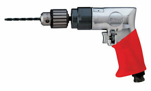 3 8 Keyed Chuck Sioux force Reversible Pistol Grip Air Drill 1 800 Rpm 47hp