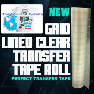 12in X 30ft Grid lined Clear Transfer Tape