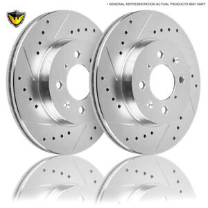 For Ford Focus Svt 2002 2003 2004 Drilled Slotted Front Brake Rotors Dac