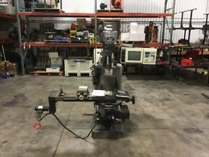 Bridgeport Ez Trak Dx 2 axis Cnc Vertical Milling Machine With Kurt Vise