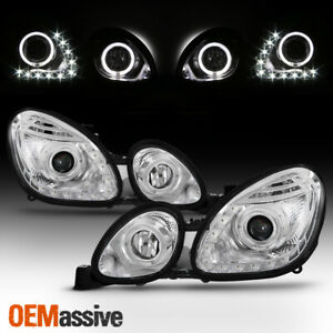 Fits 98 05 Lexus Gs300 Gs400 Gs430 Clear Halo Led Drl Projector H