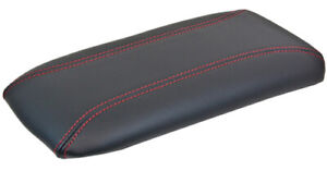 New Center Console Lid Armrest For Ford Explorer Mountaineer Black red Stitch