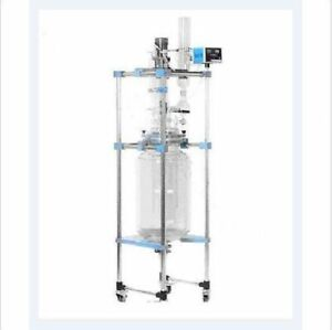50l Chemical Lab Jacketed Glass Reactor Vessel Digital Display Reaction Kettle