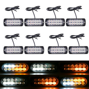 Joytutus 240 Led Tow Truck Emergency Warning Roof Top Strobe Light Amber White