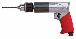 1 2 Keyed Chuck Sioux force Reversible Pistol Grip Air Drill 550 Rpm 40 Hp