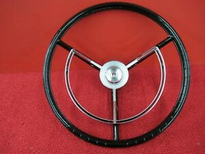 1956 1957 Ford Thunderbird Nos Steering Wheel Horn Ring Trim F724