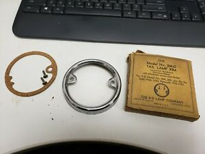 1932 1933 Plymouth Desoto New Old Stock Tail Lamp Lens Bezel And Gasket K D Co