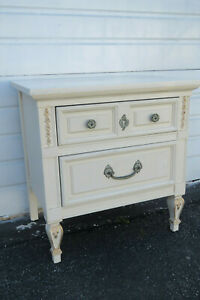 French Painted Nightstand Side End Table By Dixie Furniture 9751