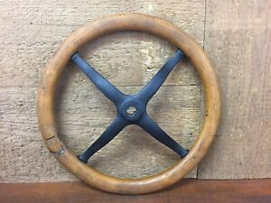 Original Ford Model T Steering Wheel 15 Wood Black Iron One Piece