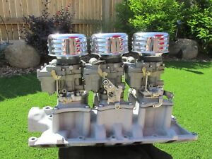 Rare Ford Small Block Tri Power Rochester Carb Set Up With Fuel Pump