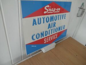 Snap On Vintage 60s Auto Air Cond Service Metal Sign Snap On Tools I Can Ship