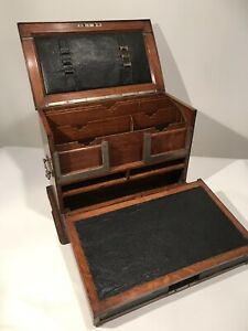 Antique 1850 S Doctor S Lawyer S Chest Tool Box Apothecary Cabinet Travel Desk