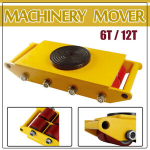 13200lbs 26400lbs Machinery Mover Roller Dolly Skate W 360 Swivel Top Plate