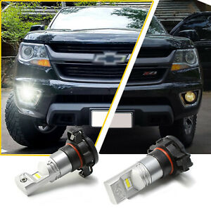 5202 100w White Led Bulbs Fog Lights For Chevy Colorado 2016 2017 2018 2019 2020