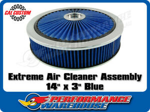 Extreme Air Cleaner Assembly 14 X 3 Blue Filter Element Performance