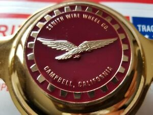 Zenith Campbell Califonia Wire Wheel 2 5 Metal Chip Emblems Burgundy Maroon Gold