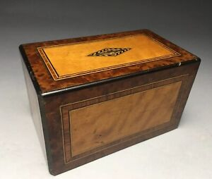 Antique Wood Inlay Parquetry Still Coin Bank Box