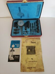 Vintage Central Tool 277 Master Timing Gage Set 263 275 276 Angle Adaptor Exc Lp