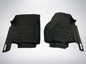 2 Piece Front Row Black Floor Mats For 2012 2019 Dodge Ram 2500 3500 Crew Cab