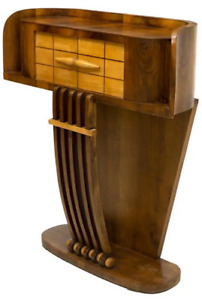 1930s French Art Deco Streamline Moderne Console Table Cabinet