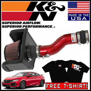 K n Typhoon Fipk Cold Air Intake System Fits 2017 2020 Honda Civic Si 1 5l L4