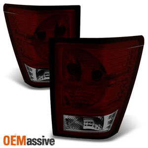 Fit 07 10 Jeep Grand Cherokee Dark Red Tail Lights L r Side Replacement