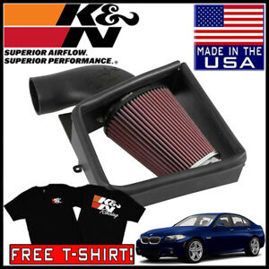 K n Aircharger Cold Air Intake System Fits 2011 2016 Bmw 535i 3 0l V8