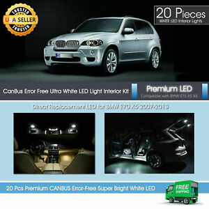 White Led Interior Premium Light Package For Bmw X5 M E70 2007 2013 Canbus 20x