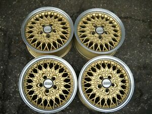 Bbs Kba40912 Gold Set Wheels 7j X 15 H2 Et38 5 X 108 Bolt Pattern Mercedes Ford