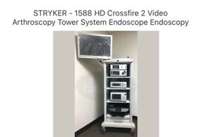 Stryker 1588 Hd Crossfire 2 Video Arthroscopy Tower System Endoscope Endoscopy