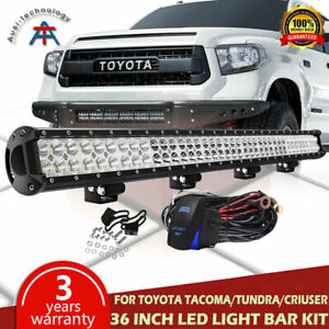 36inch 234w Bumper Roof Led Light Bar For Toyota Tacoma Tundra W Wiring Harness