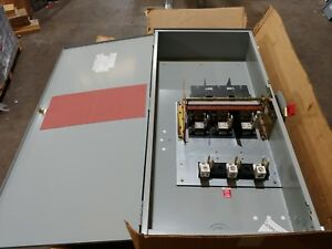 New Ge Th3365r 400a 600v Fused 3r Outdoor Disconnect Switch