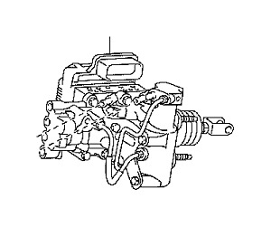 Toyota Prius Brake Booster Assembly With Master Cylinder Fits 2011 2014