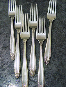 International Silver Co Prelude Sterling Dinner Forks No Mono Sold Individual