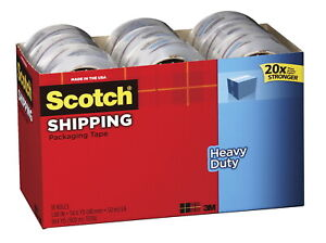Scotch Heavy Duty Shipping Packaging Tape 1 88 Inches X 54 6 Yards Clear Pack