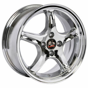 Wheel For 1979 1993 Ford Mustang 17 Inch Alloy Rim 4 Lug 5 Spokes 108mm Chrome