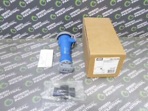 New Hubbell Hbl316c6w Watertight Pin And Sleeve Connector 2 Pole 3 Wire 240vac