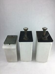 Vintage Porcelain Ice Cream Soda Fountain Topping Dispenser Lot
