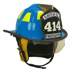 Cairns Blue 1010 Traditional Fiberglass Helmet Nfpa Osha 1010 With Defender